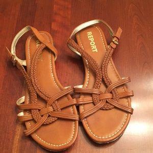Report brown sandals
